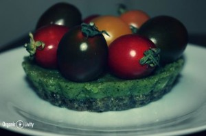 Organic Raw Green Boursin Tart